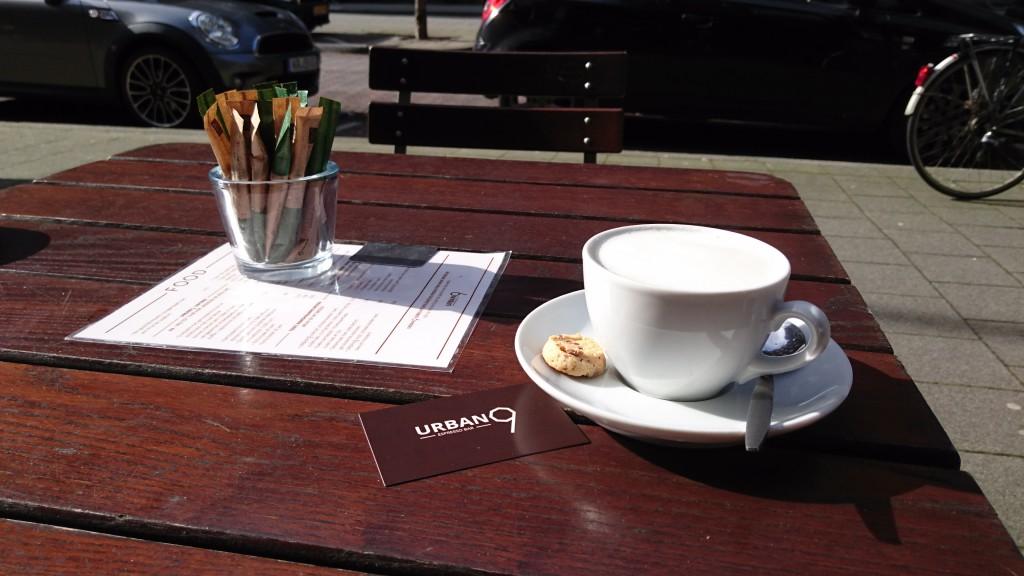 Cappuccino bij Urban 9 espressobar